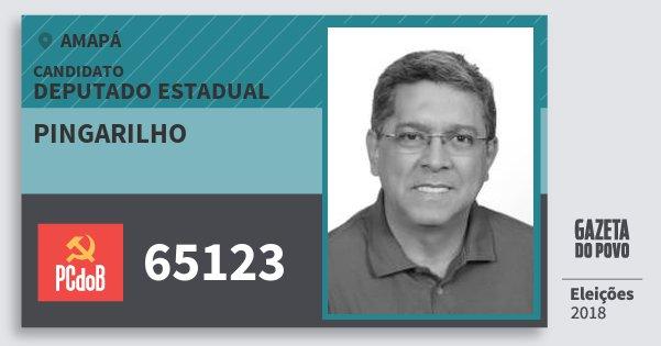 Santinho Pingarilho 65123 (PC do B) Deputado Estadual | Amapá | Eleições 2018