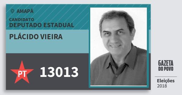 Santinho Plácido Vieira 13013 (PT) Deputado Estadual | Amapá | Eleições 2018