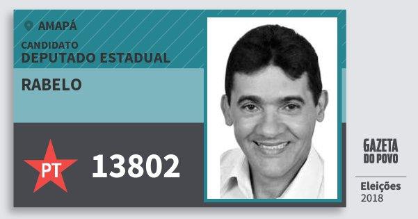Santinho Rabelo 13802 (PT) Deputado Estadual | Amapá | Eleições 2018
