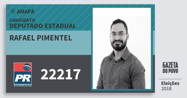 Santinho Rafael Pimentel 22217 (PR) Deputado Estadual | Amapá | Eleições 2018