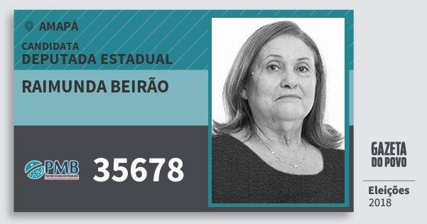 Santinho Raimunda Beirão 35678 (PMB) Deputada Estadual | Amapá | Eleições 2018