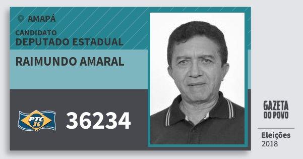 Santinho Raimundo Amaral 36234 (PTC) Deputado Estadual | Amapá | Eleições 2018