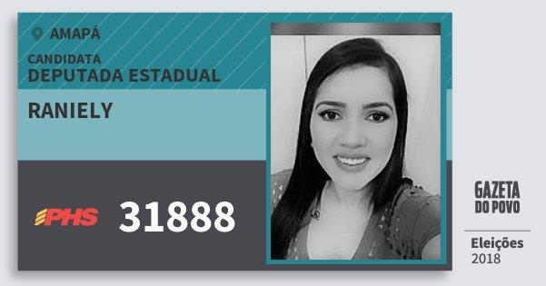 Santinho Raniely 31888 (PHS) Deputada Estadual | Amapá | Eleições 2018