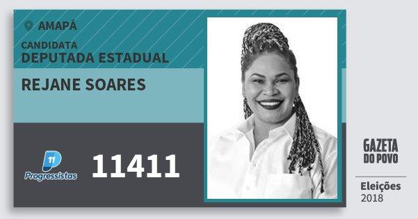 Santinho Rejane Soares 11411 (PP) Deputada Estadual | Amapá | Eleições 2018