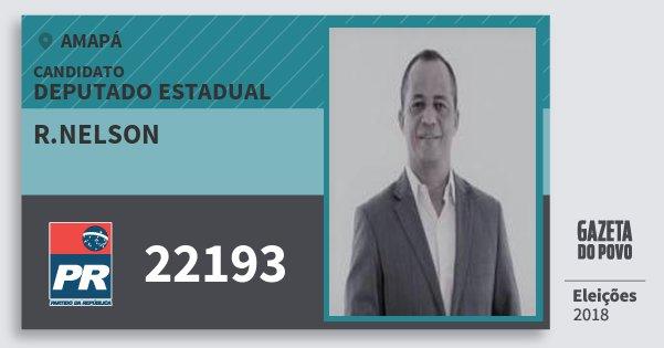 Santinho R.nelson 22193 (PR) Deputado Estadual | Amapá | Eleições 2018