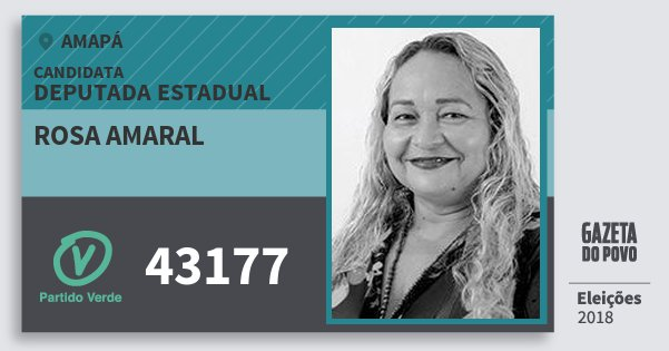 Santinho Rosa Amaral 43177 (PV) Deputada Estadual | Amapá | Eleições 2018