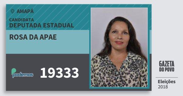 Santinho Rosa da Apae 19333 (PODE) Deputada Estadual | Amapá | Eleições 2018