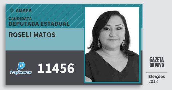 Santinho Roseli Matos 11456 (PP) Deputada Estadual | Amapá | Eleições 2018