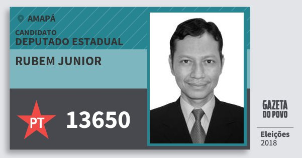 Santinho Rubem Junior 13650 (PT) Deputado Estadual | Amapá | Eleições 2018