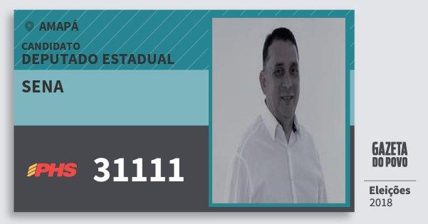 Santinho Sena 31111 (PHS) Deputado Estadual | Amapá | Eleições 2018
