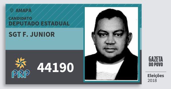 Santinho Sgt F. Junior 44190 (PRP) Deputado Estadual | Amapá | Eleições 2018
