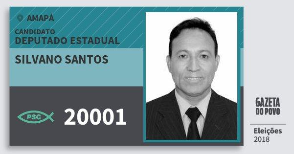 Santinho Silvano Santos 20001 (PSC) Deputado Estadual | Amapá | Eleições 2018