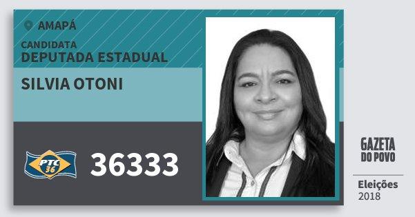 Santinho Silvia Otoni 36333 (PTC) Deputada Estadual | Amapá | Eleições 2018