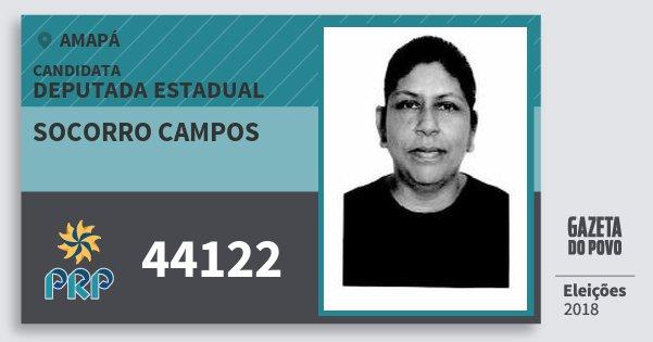 Santinho Socorro Campos 44122 (PRP) Deputada Estadual | Amapá | Eleições 2018