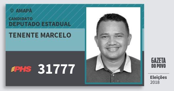 Santinho Tenente Marcelo 31777 (PHS) Deputado Estadual | Amapá | Eleições 2018