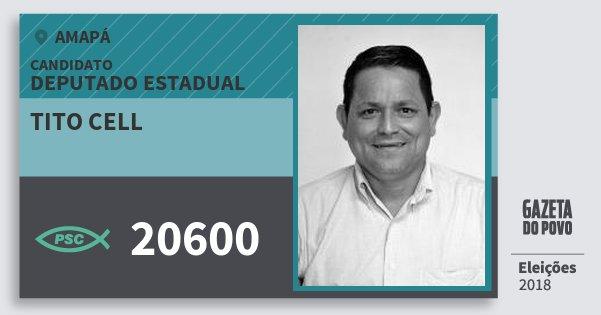 Santinho Tito Cell 20600 (PSC) Deputado Estadual | Amapá | Eleições 2018