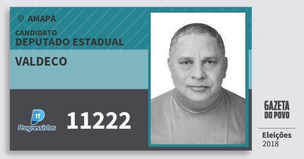 Santinho Valdeco 11222 (PP) Deputado Estadual | Amapá | Eleições 2018