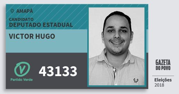 Santinho Victor Hugo 43133 (PV) Deputado Estadual | Amapá | Eleições 2018