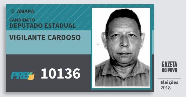 Santinho Vigilante Cardoso 10136 (PRB) Deputado Estadual | Amapá | Eleições 2018