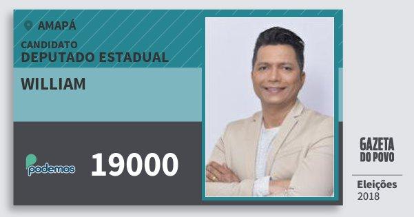 Santinho William 19000 (PODE) Deputado Estadual | Amapá | Eleições 2018