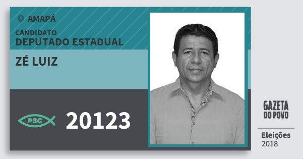 Santinho Zé Luiz 20123 (PSC) Deputado Estadual | Amapá | Eleições 2018