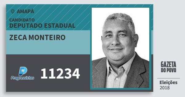 Santinho Zeca Monteiro 11234 (PP) Deputado Estadual | Amapá | Eleições 2018