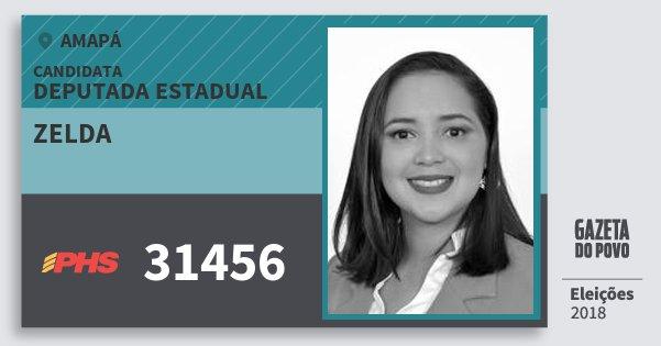 Santinho Zelda 31456 (PHS) Deputada Estadual | Amapá | Eleições 2018