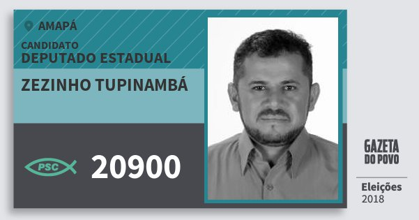 Santinho Zezinho Tupinambá 20900 (PSC) Deputado Estadual | Amapá | Eleições 2018