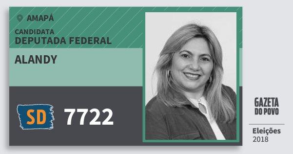 Santinho Alandy 7722 (SOLIDARIEDADE) Deputada Federal | Amapá | Eleições 2018