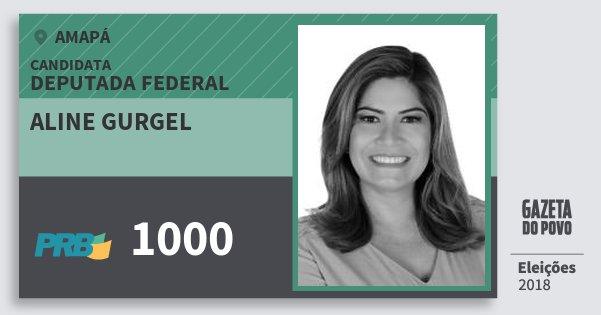Santinho Aline Gurgel 1000 (PRB) Deputada Federal | Amapá | Eleições 2018