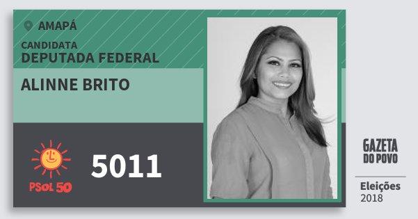 Santinho Alinne Brito 5011 (PSOL) Deputada Federal | Amapá | Eleições 2018