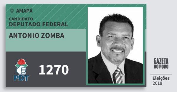 Santinho Antonio Zomba 1270 (PDT) Deputado Federal | Amapá | Eleições 2018