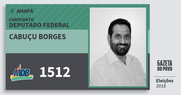 Santinho Cabuçu Borges 1512 (MDB) Deputado Federal | Amapá | Eleições 2018