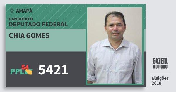Santinho Chia Gomes 5421 (PPL) Deputado Federal | Amapá | Eleições 2018