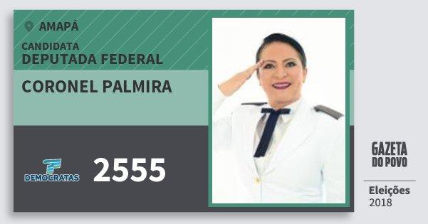 Santinho Coronel Palmira 2555 (DEM) Deputada Federal | Amapá | Eleições 2018