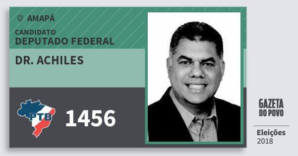 Santinho Dr. Achiles 1456 (PTB) Deputado Federal | Amapá | Eleições 2018
