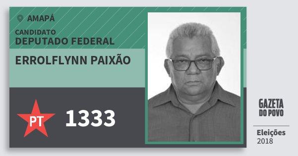 Santinho Errolflynn Paixão 1333 (PT) Deputado Federal | Amapá | Eleições 2018