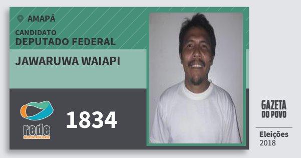 Santinho Jawaruwa Waiapi 1834 (REDE) Deputado Federal | Amapá | Eleições 2018