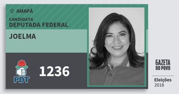 Santinho Joelma 1236 (PDT) Deputada Federal | Amapá | Eleições 2018