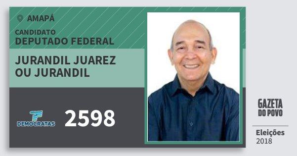 Santinho Jurandil Juarez Ou Jurandil 2598 (DEM) Deputado Federal | Amapá | Eleições 2018