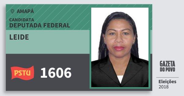 Santinho Leide 1606 (PSTU) Deputada Federal | Amapá | Eleições 2018