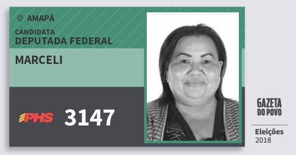 Santinho Marceli 3147 (PHS) Deputada Federal | Amapá | Eleições 2018