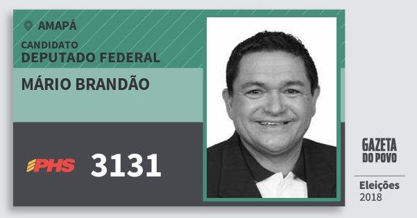 Santinho Mário Brandão 3131 (PHS) Deputado Federal | Amapá | Eleições 2018