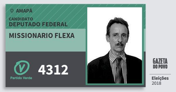 Santinho Missionario Flexa 4312 (PV) Deputado Federal | Amapá | Eleições 2018