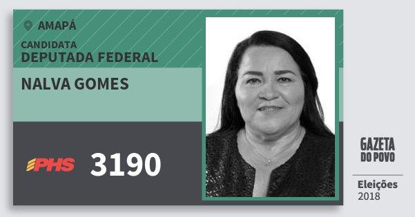 Santinho Nalva Gomes 3190 (PHS) Deputada Federal | Amapá | Eleições 2018