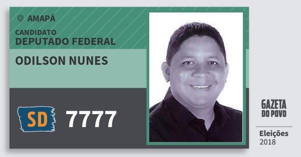 Santinho Odilson Nunes 7777 (SOLIDARIEDADE) Deputado Federal | Amapá | Eleições 2018