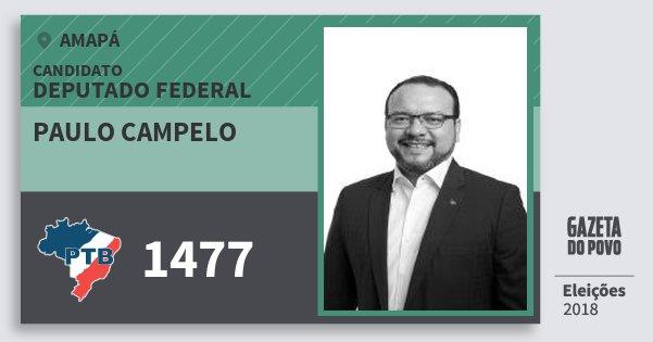 Santinho Paulo Campelo 1477 (PTB) Deputado Federal | Amapá | Eleições 2018