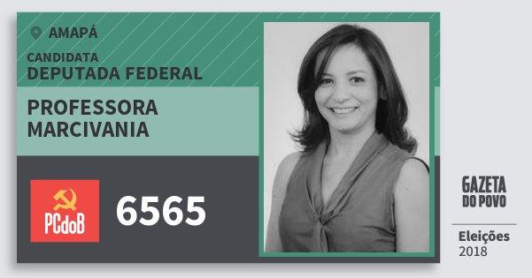 Santinho Professora Marcivania 6565 (PC do B) Deputada Federal | Amapá | Eleições 2018