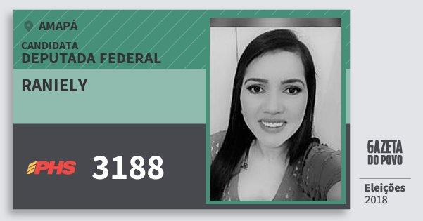 Santinho Raniely 3188 (PHS) Deputada Federal   Amapá   Eleições 2018