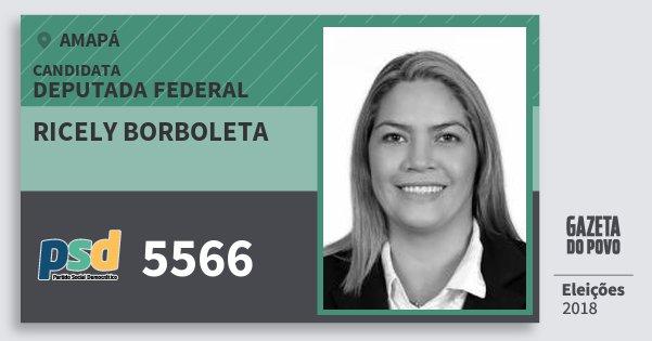 Santinho Ricely Borboleta 5566 (PSD) Deputada Federal | Amapá | Eleições 2018